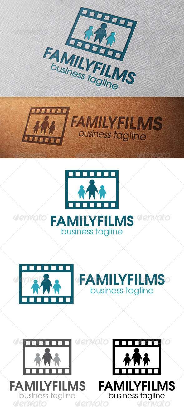 GraphicRiver Family Films Logo Template 4901690