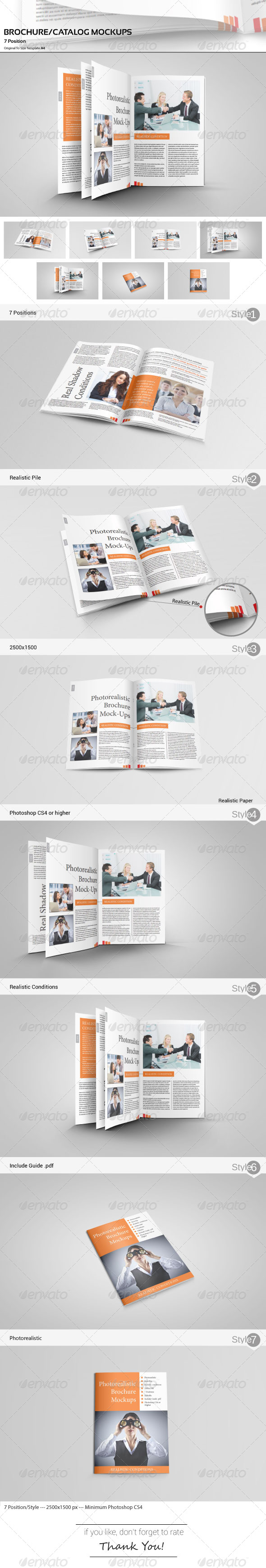 GraphicRiver Catalog Brochure Mockups 4901886