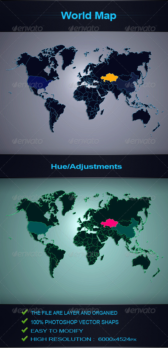 GraphicRiver World Map Backgrounds 4901975