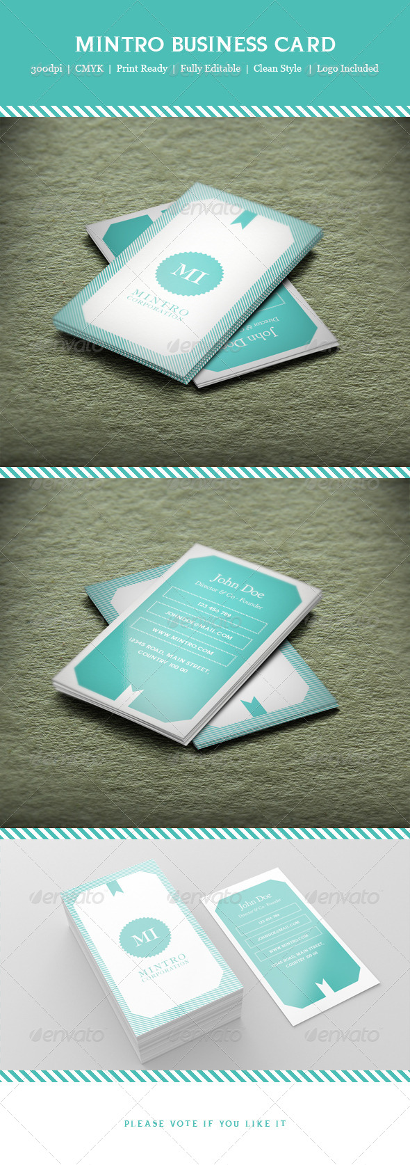 Mintro Business Card - Business Cards Print Templates