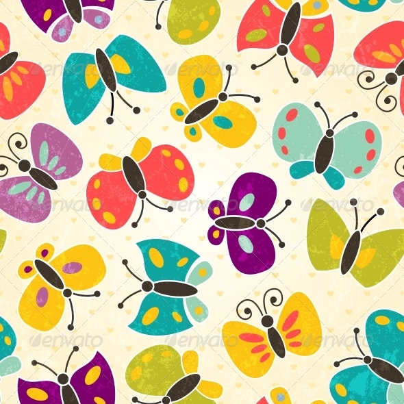 GraphicRiver Butterfly Seamless Pattern 4902033
