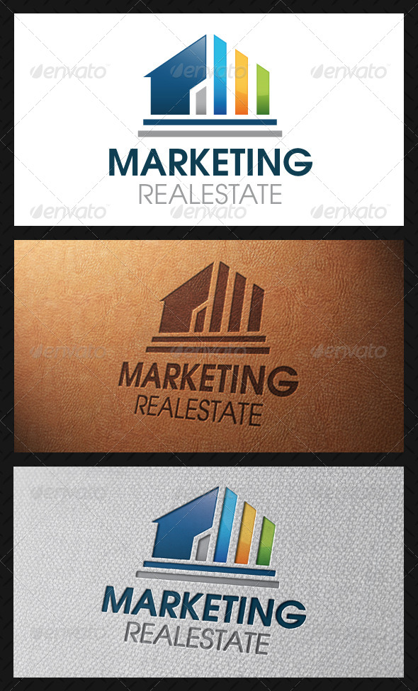 Marketing Real Estate Logo Template