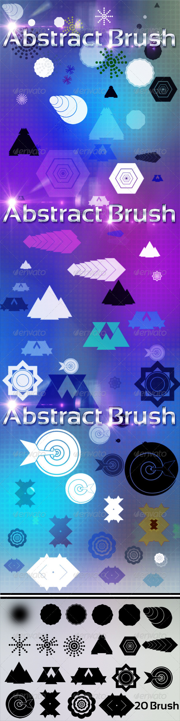 GraphicRiver 20 Abstract Brush 4902043