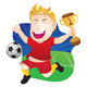 Winner Playing Soccer  - GraphicRiver Item for Sale
