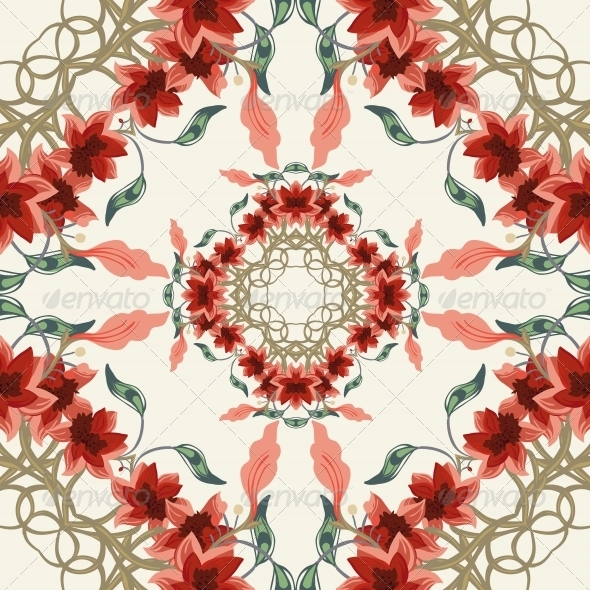 GraphicRiver Seamless Floral Background 4902076
