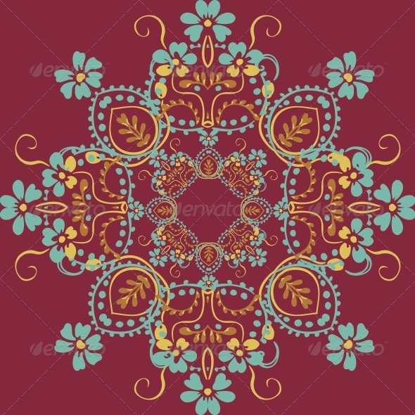 GraphicRiver Seamless Floral Background 4902081