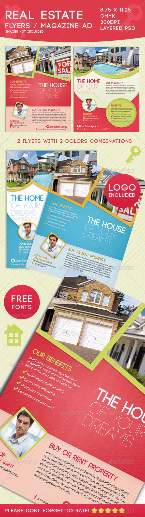 GraphicRiver Real Estate Flyers 4902244