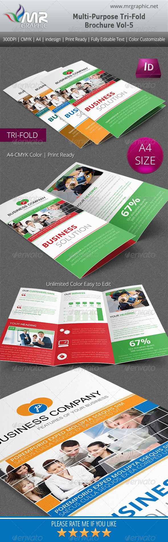 GraphicRiver Multipurpose Business Tri-Fold Brochure Vol-5 4902263