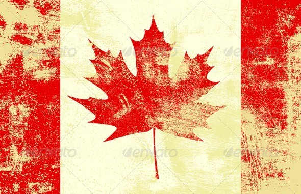 GraphicRiver Grunge Canadian Flag 4902268