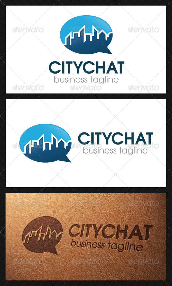 City Chat Logo Template