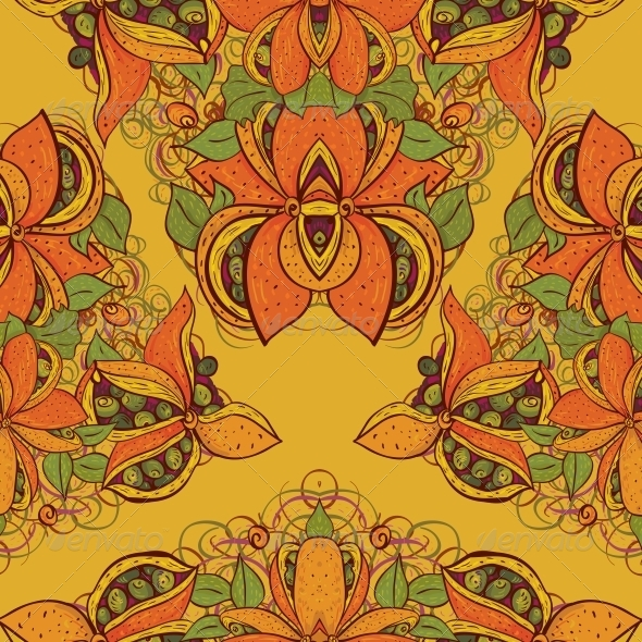 GraphicRiver Seamless Flower Pattern in Vector 4902289