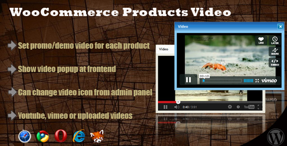 Woocommerce Products Video