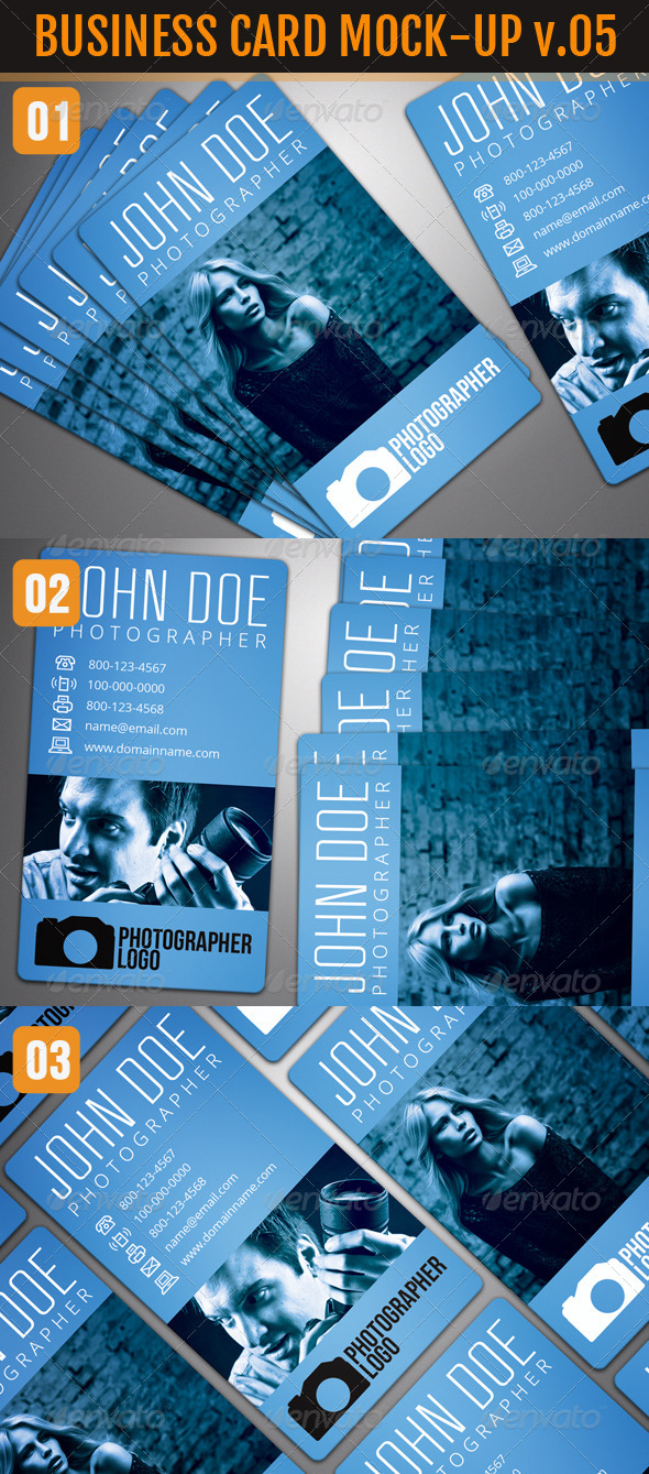 GraphicRiver Photo Realistic Business Card Mock-Up Vol.5 4902564