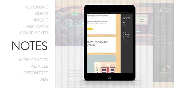 ThemeForest Notes Personal WordPress Theme 4884456