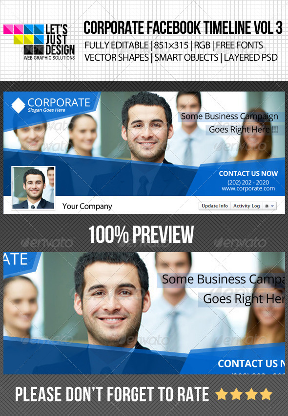 GraphicRiver Corporate Facebook Timeline Cover Vol 3 4902774