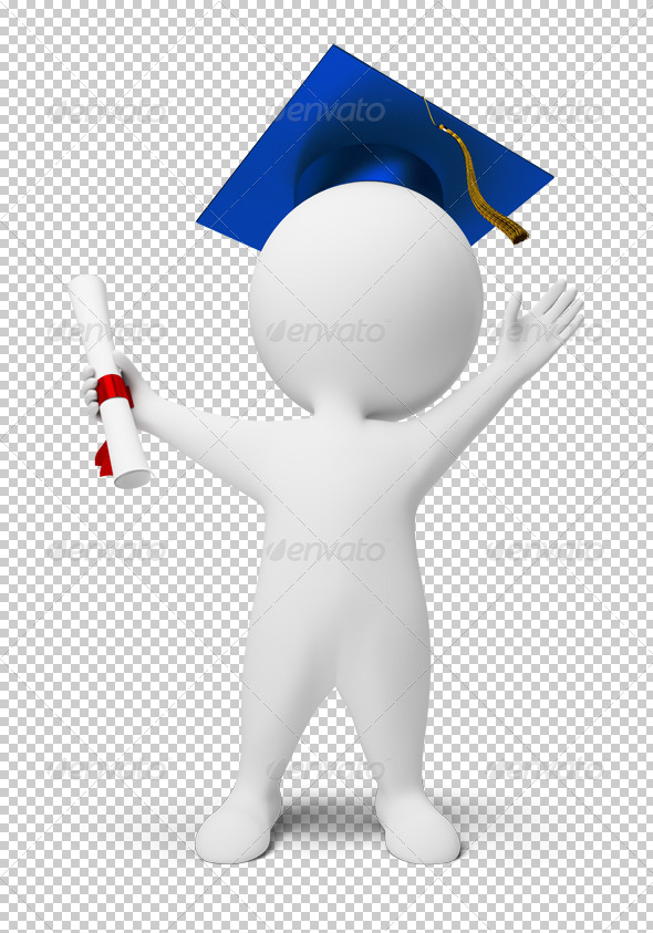 GraphicRiver 3D small people diploma 4902811