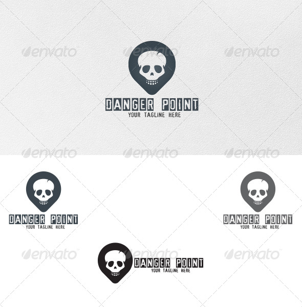 GraphicRiver Danger Point Logo Template 4902902