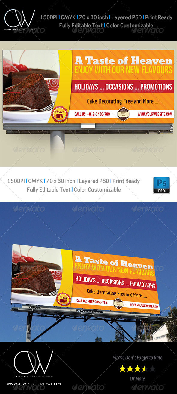 Cake Billboard Template
