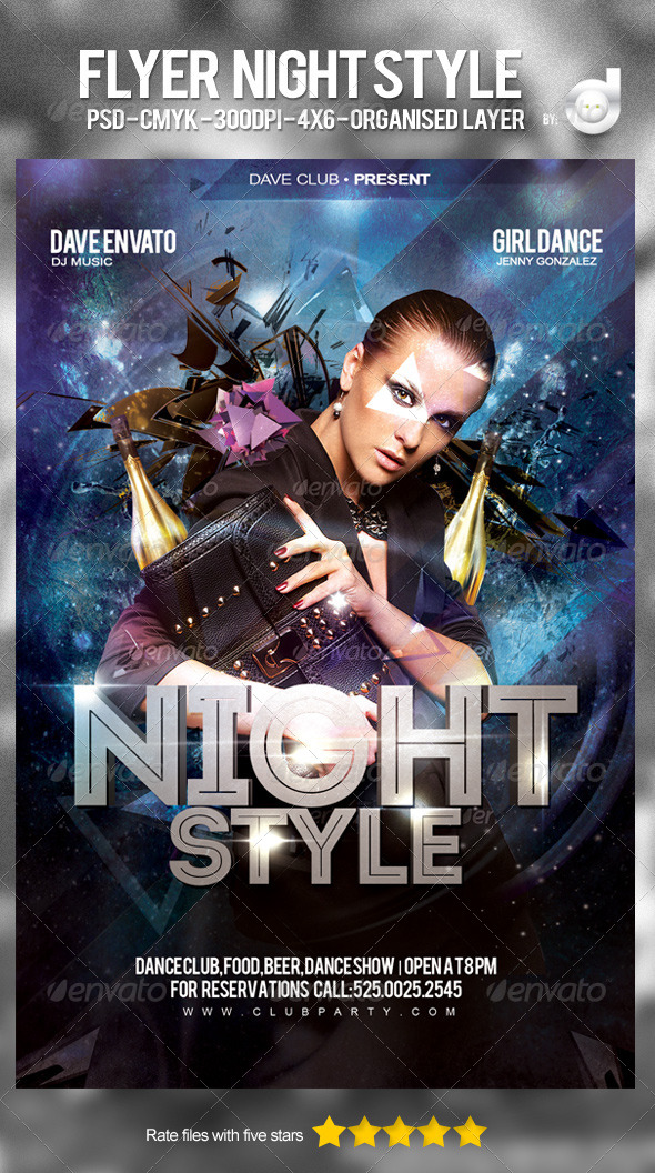 Flyer Night Style - Clubs & Parties Events