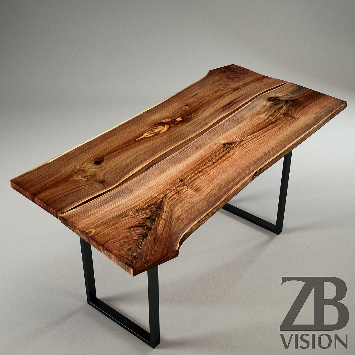 Wood slab table by ign design switzerland by luckyfox for Wood table top designs