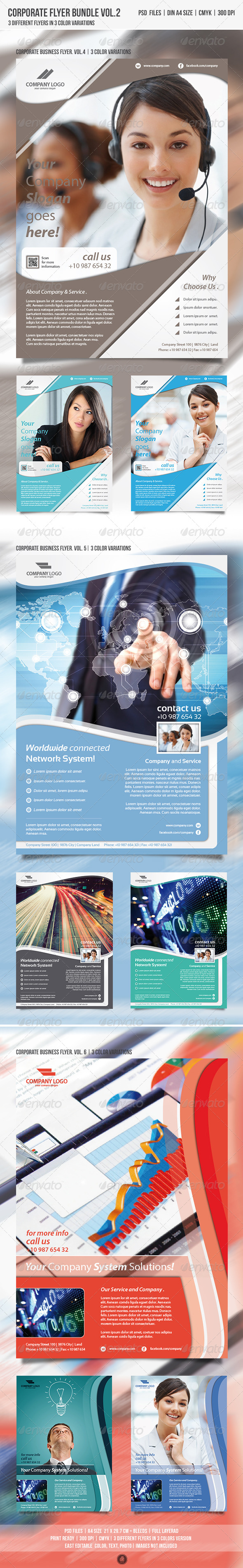 GraphicRiver Corporate Business Flyer Bundle Vol.2 4848537