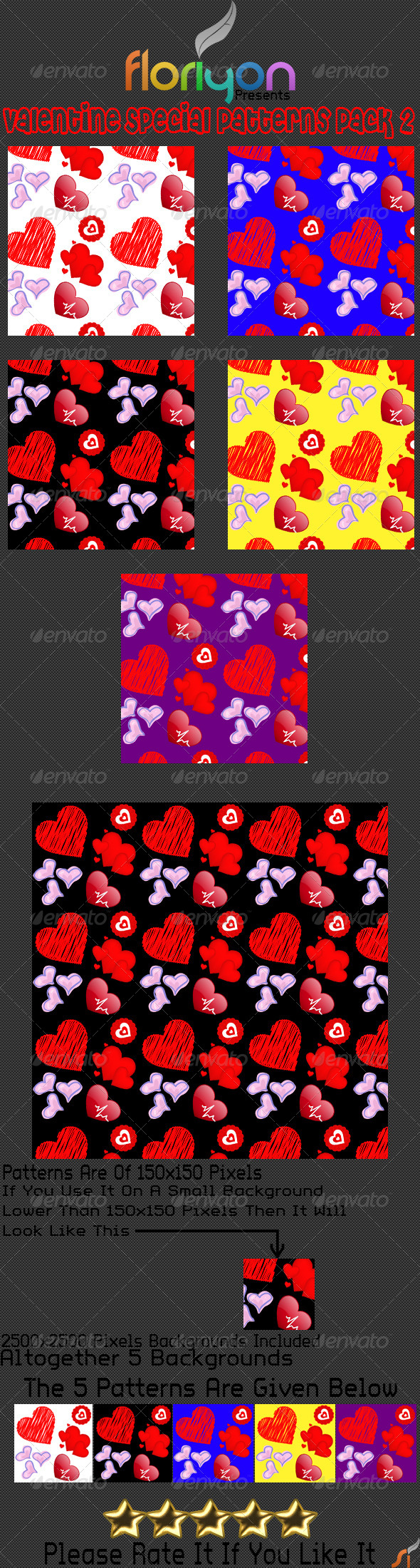 GraphicRiver Valentine Special Patterns Pack 2 4903503