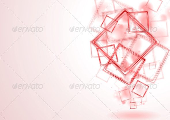 GraphicRiver Bright Red Squares Design 4863657