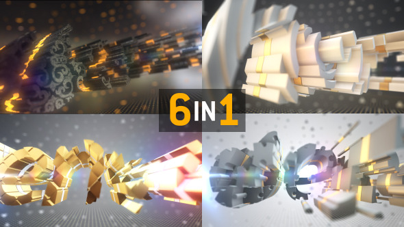 Videohive After Effects Project Files - Sliced Logo Text Element 3d Reveal