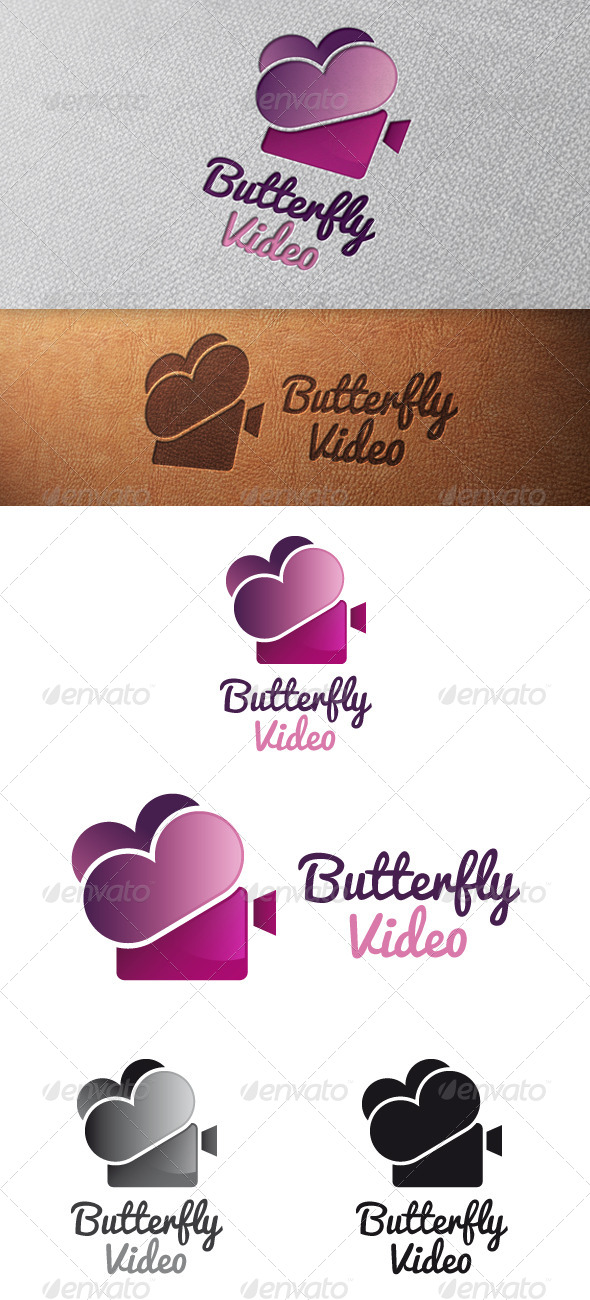 GraphicRiver Butterfly Video Logo Template 4903749