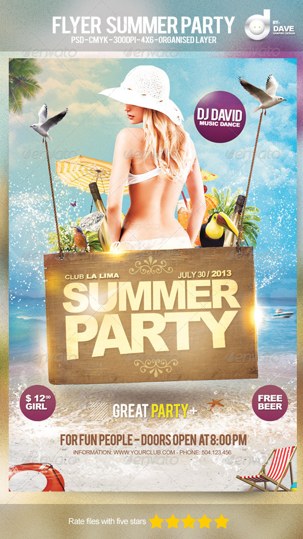 GraphicRiver Flyer Summer Party Template 4903751