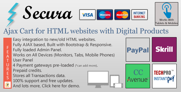 CodeCanyon Ajax Cart for HTML websites with Digital Products 4903762