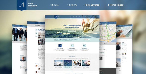 Aeron - Premium Corporate PSD Template