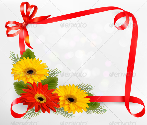 GraphicRiver Holiday Background with Colorful Flowers 4903879
