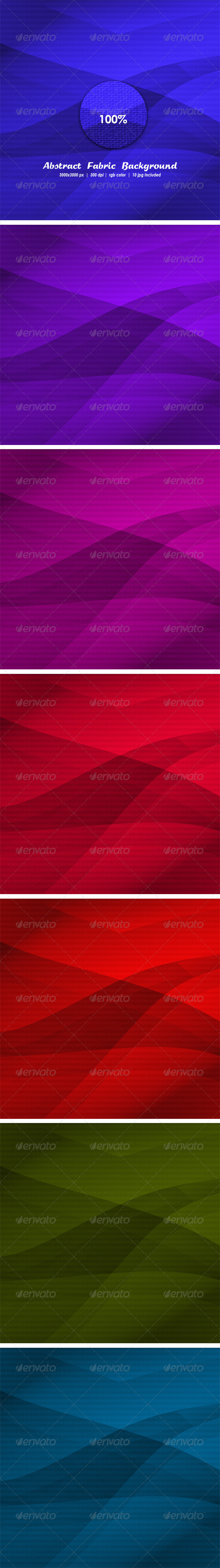 Abstract Fabric Background Set