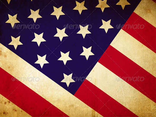 GraphicRiver Vintage American flag 4903909