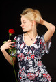 Blonde with rose. - PhotoDune Item for Sale