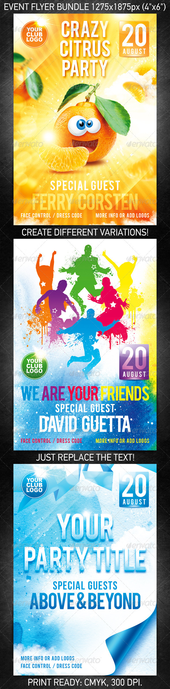 Crazy Friends Flyer Bundle - Clubs & Parties Events