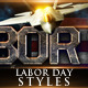 Labor Day Photoshop Styles - GraphicRiver Item for Sale