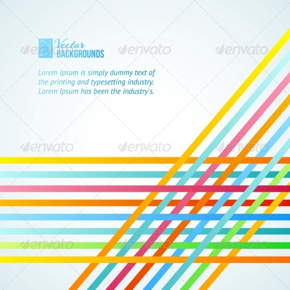 GraphicRiver Rainbow Lines Background 4904186