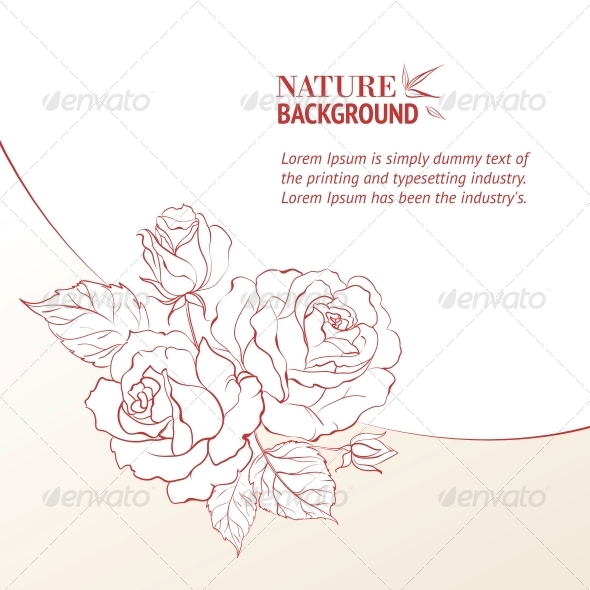 GraphicRiver Rose and Petals 4904215