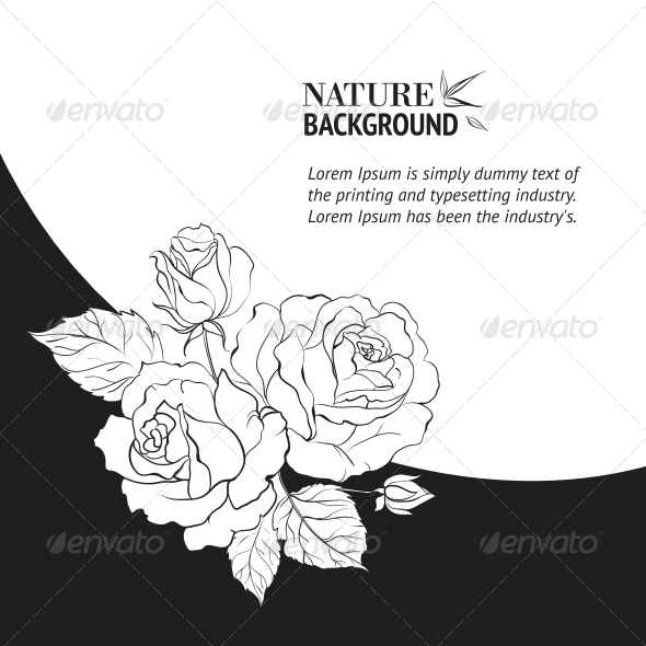 GraphicRiver Frame with Rose 4904216