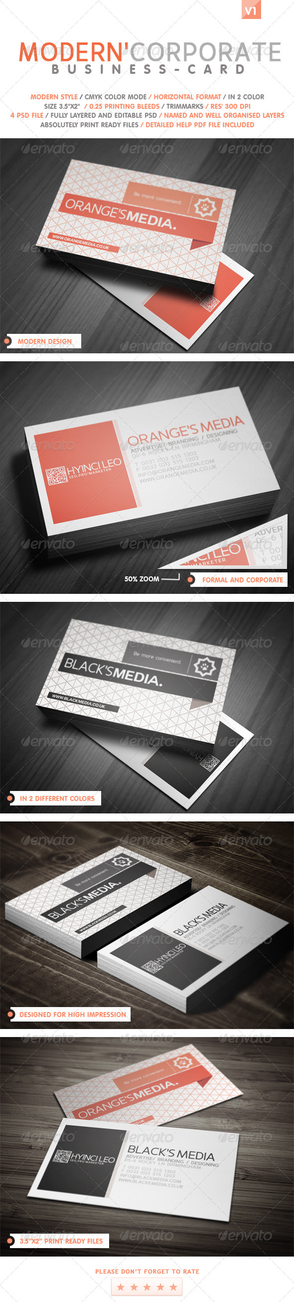 GraphicRiver Modern Corporate Business Card 4904254