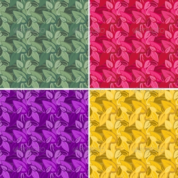 GraphicRiver Seamless Leaf Pattern 4904260