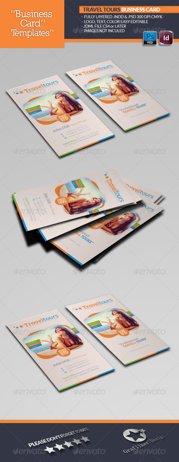 GraphicRiver Travel Tours Business Card Template 4847921