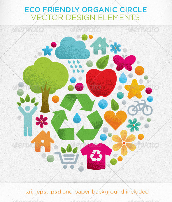 GraphicRiver Eco Friendly Organic Circle Vector Design Elements 4904306