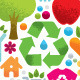Eco Friendly Organic Circle Vector Design Elements - GraphicRiver Item for Sale