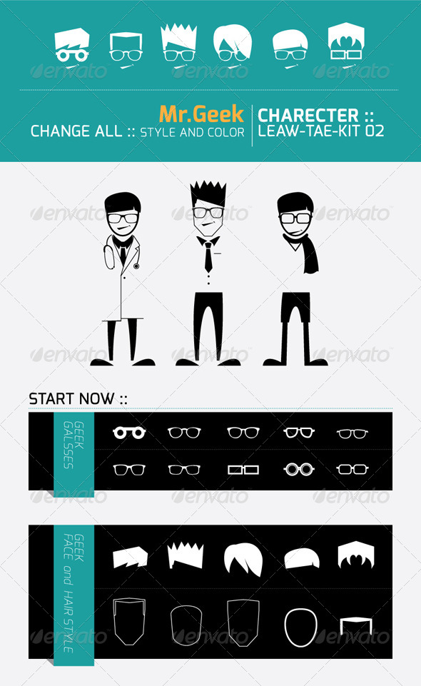 GraphicRiver Mr.Geek Character 4904529