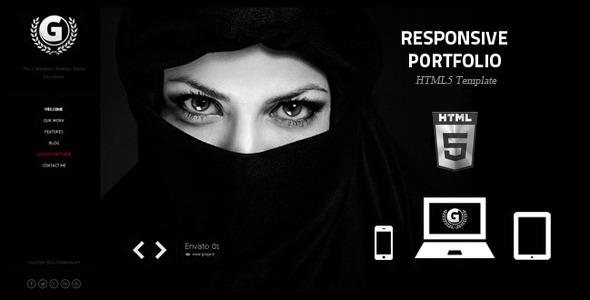 G - Responsive Portfolio HTML5 Website Template -