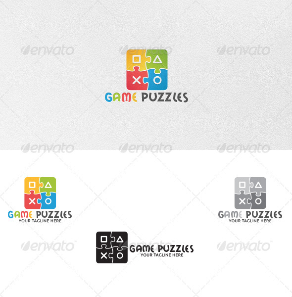 GraphicRiver Game Puzzles Logo Template 4904670