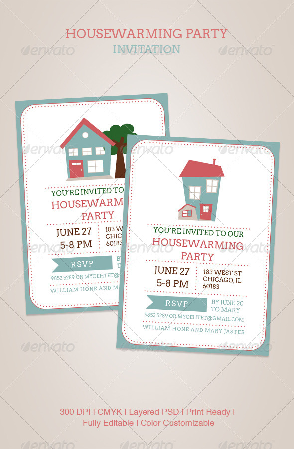 GraphicRiver Housewarming Party Invitation 4905625
